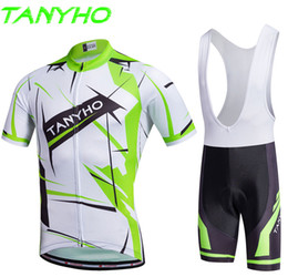 Wholesale Cheap Spandex Cycling Shorts - New 2017 Cheap Outdoor Cycling suit Wear Bike Short Sleeve Men Cycling Sweater Pro Jersey BIB Shorts Sets ta12