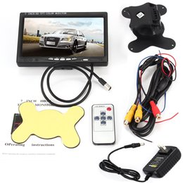 câmera vermelha mais barata Desconto 7 polegadas de alta resolução TFT LCD Screen Monitor com entrada HDMI VGA, DVD VCR Car Rearview Headrest Monitor + Remote + AC Charger