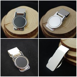 "Wholesale Slimming Blanker - DIY Blank Money Clip Credit Card Holder Silver Zinc Alloy 2.44""*0.87"" Money Clipper Slim Money Wallet Clip Christmas Gift C110L"