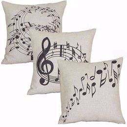 Canada Vente en gros-Square Music Notes Melody Lin Throw Taie d'oreiller Taille Housse de coussin cheap cases melody Offre