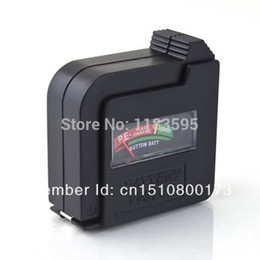 Wholesale Aa D - Wholesale-1pc Lot Black Universal 9V AA AAA C D 1.5V Button Cell Battery Volt Tester Checker A3279 BZCe