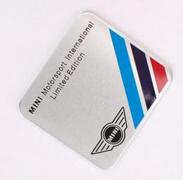 2019 adesivo auto hellaflush Alta qualità 35 * 34mm MINI Coopers Autoadesivo della lega di alluminio Auto Sport Sticker etichetta Distintivo dell'emblema auto styling per MINI [80x30mm, 60x55mm]