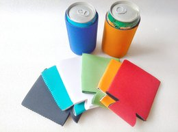 Wholesale Water Bottle Cover Wholesale - Creative Style Slim Can Insulators for Beer or Energy Drinks Colorful Water Sleeve Neoprene Coolie Hot Water Bottle with Cover Funny Koozies