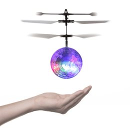 Wholesale Infrared Helicopter - RC Toy, RC Flying Ball, RC infrared Induction Helicopter Ball Built-in Shinning LED Lighting for Kids, Teenagers Colorful Flyings for Kid's