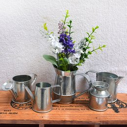 Wholesale Decoration Metal Flower Pot - Pots Wholesale Watering Cans For Small Plants Mini Small Watering Cans Iron Pots Metal Decorative For Garden Home Office Decoration