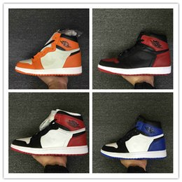 Wholesale Nylons Toe - Wholesale top quality air Retro 1 OG High Shattered Backboard Away Banned Fragment x Black Toe MEN Basketball Shoes sports shoes sneakers
