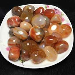 Wholesale Oval Fish Tanks - Exquisite Pretty natural Oval Multi-color Onyx Agate Cab Cabochon crystal love natural stones and minerals fish tank stone