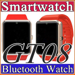 Wholesale Best Smartwatch - 40X Best Quality Bluetooth SmartWatch GT08 For Android IOS iPhone Wrist Wear Support Sync SIM TF Card Camera Pedometer Sleep Monitoring C-BS