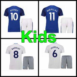 Wholesale Teen S - top thai 2017 2018 Everton Kids kit Soccer Jerseys child teens Shirt ROONRY MIRALLAS LENNON BARKLEY 17 18 Home away Football shirts