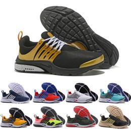 Wholesale Men Safari - Free Shipping Air Presto Ultra Breathe Casual Shoes Men Women Cheap High Quality Gold Safari Training Essential Running Shoes Size 5.5-12