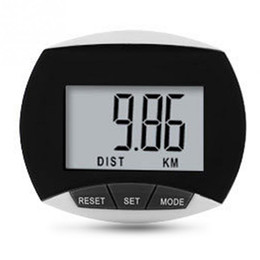 Wholesale Distance Pedometers - Wholesale- Mini Waterproof LCD Digital Step Pedometer Walking Calorie Tracker Exercise Distance Calculation Black Red