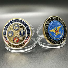 Wholesale Usa Loads - Free Shipping USA military family armed force Irion core bronze plated coins United States coins for Commemorative gift Home Decor