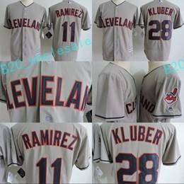 Wholesale Order Mens Gold - Mens Cleveland Indians Jersey 11 Jose Ramirez 28 Corey Kluber Grey 100% Stitched Embroidery Logos Baseball Jerseys Cheap Mix Order