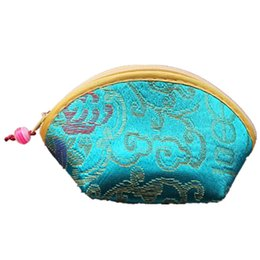 Wholesale Chinese Coin Purses - Wholesale- ASDS-Chinese Silk Embroidery Wallet Change Coin Bag Handbag Small Purse Pouch Random