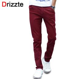 Wholesale Chino Trousers - Wholesale- Mens Fashion Stretch Slim Casual Dress Chino Pants Business Trousers Red Black Blue Khaki 28 29 30 31 32 33 34 36 38