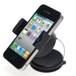 держатель автомобиля сотового телефона свободная перевозка груза Скидка Оптовая продажа-мини сотовый телефон держатель автомобиля 360 градусов вращающийся, универсальный телефон держатель автомобиля для iphone / Nokia / HTC Бесплатная доставка Iphone