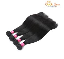Wholesale Sell Bundle Hair - Top Selling Peruvian Straight Hair Bundle 3Pcs Lot Elfin Hair Products Natural Color Peruvian Virgin Unprocessed Human Hair Weave Full End