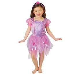 Wholesale Children Stage Shows - Halloween Cosplay Girl stage performance service Children show costumes Princess skirt cute purple fairy skirt
