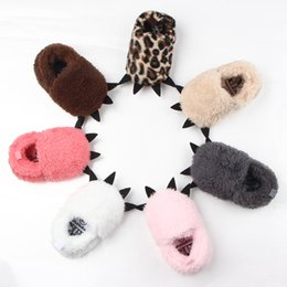 Wholesale First Photos - Cute Modeling Monster Paw Baby Worm Slippers 2017 Winter Baby Shoes First Walkers Photo Props Accessories Baby YAN-757