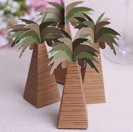 Wholesale Beach Theme Party Favors - Wholesale- 20pcs lot beach theme coconut tree Wedding Favors Box Wedding Favors and Gifts Wedding Decoration Mariage free shipping
