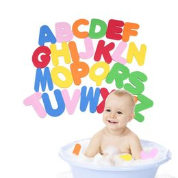Wholesale Baby Water Safety - Wholesale- 36 PCs EVA baby bath toys  Letters Numbers Can Stick On The Wall Safety Environmental Learning Education Water Classic Toys