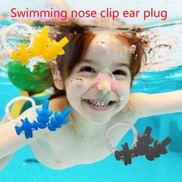 Wholesale Ear Nose Plugs - Swimming pool, swimming pool, ear plug, nose clip, adult silicone swimming, ear plug, children professional waterproof equipment