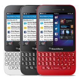 Ежевика q5 онлайн-Восстановленное в Исходном Blackberry Q5 4 Г Разблокирована ЕС США Мобильный Телефон 3,1-дюймовый Двухъядерный 2 ГБ RAM 8 ГБ ROM 5.0MP Камера LTE Сотовый Телефон DHL 1 шт.