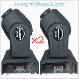 Wholesale Moving Light Gobos - Wholesale-(2 pieces lot) Eyourlife LED Inno Pocket Spot Mini Moving Head Light 10W DMX dj 8 gobos effect stage lights