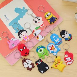 Wholesale Cute Solar Plant - High quality Cartoon Cute Keychain Small Pendant Student Little Gift Key Ring New KR011 Keychains mix order 20 pieces a lot