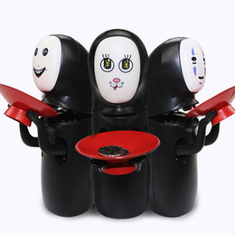 Wholesale Spirited Away No face Fun Electric Music Piggy Bank Automatic Coins Collection No Face Coin Collector Model Figure Doll Novelty Fidget Toys