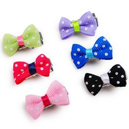 Wholesale Pet Hair Clips - Free shipping 5pcs lot cute hair clips for cat dog pet beauty accessories sweet puppy beauty supplies