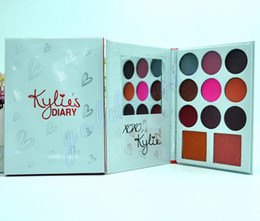Wholesale Halloween Eye Shadow - Kylie's Diary Limited Edition Palette Kylie Cosmetics Jenner 9 Color Eye Shadow+ 2 Color blush set