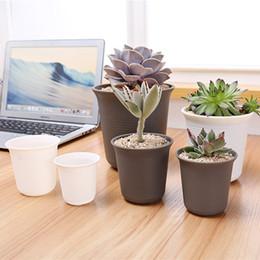 Wholesale Flower Desk - DHL Plastic Pots for Plants Circle Planter for Decoration of Home Office Desk Garden Flower Shop