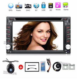 Wholesale Gps Navigation Bluetooth Dash - 2 din New universal Car DVD Player GPS Navigation In dash Stereo video Free Map Camera car multimedia