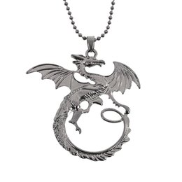 Wholesale Ice Songs - Fashion Movie Jewelry Song Of Ice And Fire Necklaces Game Of Thrones Necklace Targaryen Dragon Badge Pendant Necklace