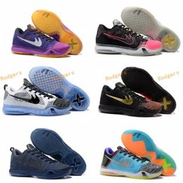 Wholesale New Table Tops - New Arrival Top Quality Free Shipping Mens Basketball Shoes Kobe 10 X Low Cut Sneakers Mens Kobe X 10 Elite Trainers Footwear 7-12