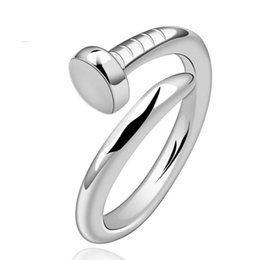 fashion finger rings for girls Promo Codes - Silver Band Rings Hot Sale Finger Ring For Women Girl Party Gift Fashion Jewelry Wholesale Free Shipping 0523WH