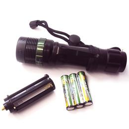 Wholesale Highest Output Led Flashlight - High Lumen Output Cree Q5 LED Outdoor Use Lantern Flashlight White Light Torches Mini Zoomable High Middle Low SOS Portable LED Flashlights