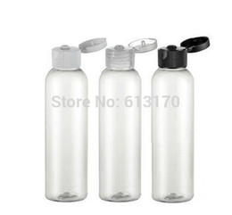 Wholesale Making Shipping Containers - Free Shipping-150ML Flip Cap Bottle Transparent Empty Cosmetic Lotion Container,Sample Make-up Shampoo Sub-bottling,30PCS LOT
