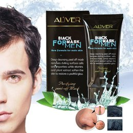 Wholesale Olive Face Cream - face mask removal ALIVER blackhead remover Deep Cleansing purifying peel off instant for man acne treatment