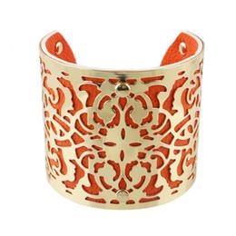 Wholesale Hot Fashion Cuff - Hot Selling Fashion Big Size Punk Gold Color Snake Shape Alloy Charm Bangle Cuff Bracelet Bijouterie For Women