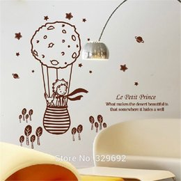 Wholesale Prince Wall - Cute Creative Big Size 112.5X 98Cm For Kids Rooms Little Prince And The Fox Removable Wall Stickers Home Decoration Tx -506
