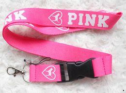 Wholesale 559 Fashion - Hot sale wholesale 160pcs LOVE PINK insert Buckle phone lanyard fashion keys rope neck rope card rope free shipping 559