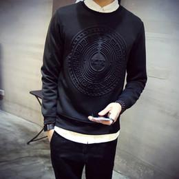 Wholesale Korean Sweatshirts Men - Wholesale-3D Space Cotton Sweatshirt Men Hedging Printing Men's Fashion Space Cotton Hoodie Spring and Autumn Korean Slim Space Pullover