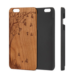 Wholesale Iphone Back Covers Unique - Unique Slim Cherry Wood PC Back Cover Case for Apple IPhone Protective Mobile Phone Case for IPhone