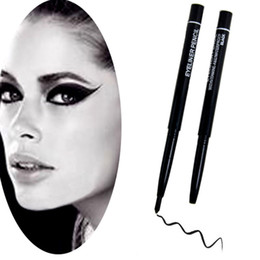 Wholesale Automatic Eyeliner - Wholesale- 2017 Hot sale Black Eye Liner Rotatable Eyeliner Waterproof Automatic Rotary Pencil For Eye Makeup Cosmetics Free Shipping