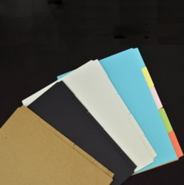 Wholesale Wholesale Blank Bookmarks - Wholesale- 1 Set A6 Notebook Planner Accessories Black Blank Dividers Index page Bookmark Plate 5 sheets Set Match Filofax Gift Stationery