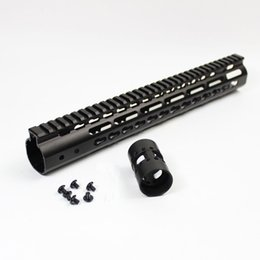 Wholesale 15 Inch Free Float Handguard - AR15 Auminum Alloy 7 9 10 12 13.5 15 inch Ultralight Free Float NSR KeyMod Handguard With Barrel Nut