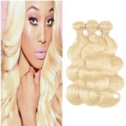 Mejor pelo libre de enredos de pelo online-8A Brasileño Body Wave Hair 100% extensiones de cabello humano virgen Tramas de cabello body wave blonde weave # 613 Dyeable Tangle Free Best Quality