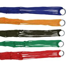 Maillage oscillant en Ligne-Extérieure Maille Hamac Nylon Swing Hang Bed Hang 9 part Hamacs colorés sans cravate La corde pour l'été 7 9xc A